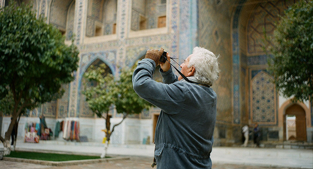 A French tourist in the Uzbek city of Samarkand. file photo
