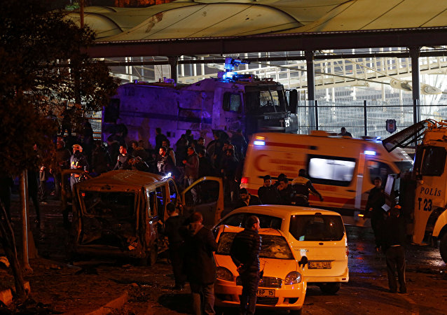 An ambulance leaves the scene after a blast in Istanbul, Turkey, December 10, 2016