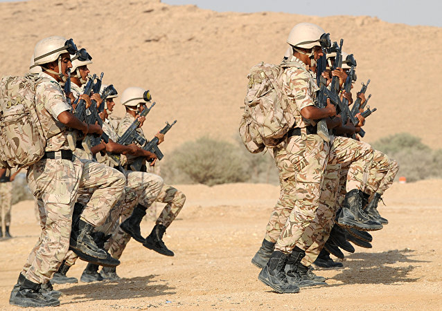 A picture taken June 26, 2011 shows Saudi special forces graduates showing their skills during a ceremony held at their base near the capital Riyadh