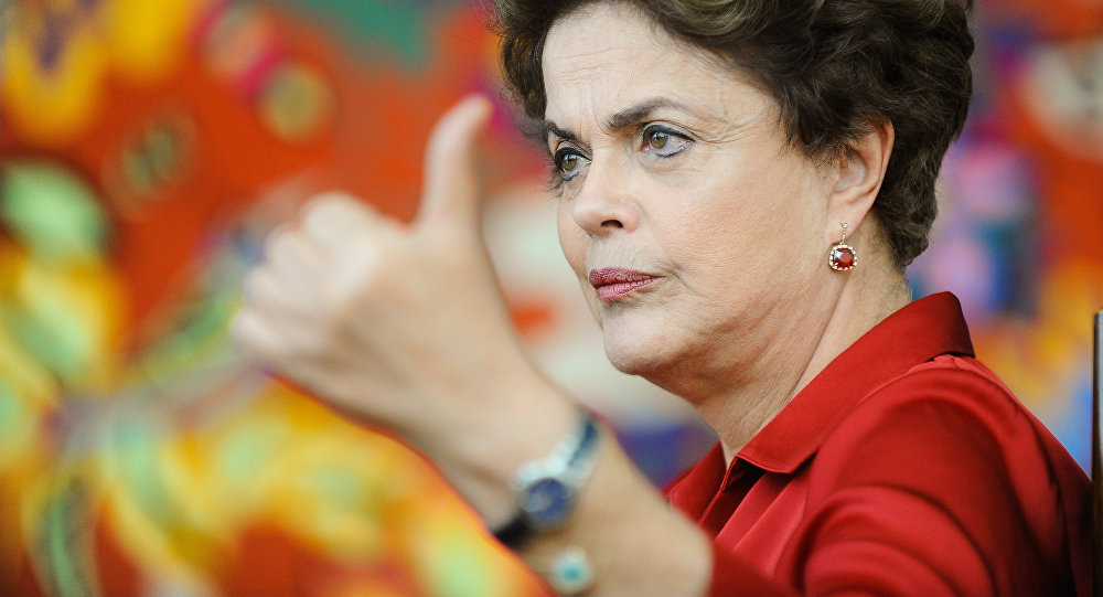 Brazilian suspended President Dilma Rousseff meets with foreign correspondents at the Alvorada Palace presidential residence in Brasilia on August 18, 2016