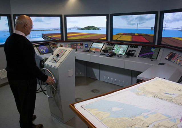 Transas navigational simulator