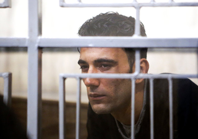Mohammed Ali Malek is seen at Catania's tribunal, April 24, 2015