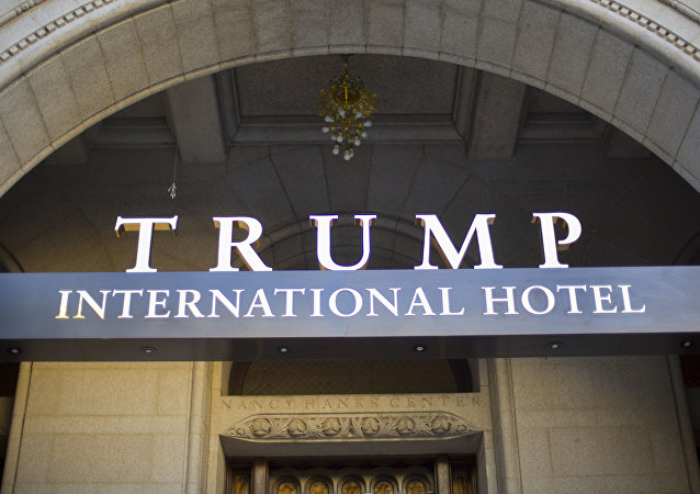 The exterior of the Trump International Hotel in downtown Washington. (File)