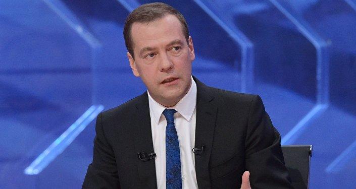 Russian Prime Minister Dmitry Medvedev