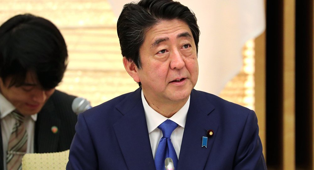 Shinzo Abe, Japan's prime minister, attends a working lunch with Vladimir Putin, Russia's president, (not pictured), at the prime minister's official residence in Tokyo, Japan, December 16, 2016.
