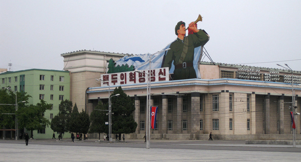 The Central Square named after Korea's founder, Kim Il Seng, in Pyongyang. (File)