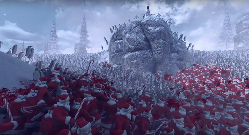11,000 Penguins VS Santa Claus Army - Epic Battle Simulator(15,000 Characters)