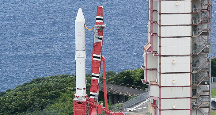 Japan Aerospace Exploration Agency's (Jaxa) new solid fuel rocket Epsilon at Jaxa's Uchinoura Space Center at Kimotsuki town in Kagoshima prefecture, Japan's southern island of Kyushu (File)