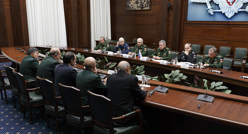 Russian Defense Minister Sergei Shoigu meets with Iranian Defense Minister Hossein Dehghan in Moscow