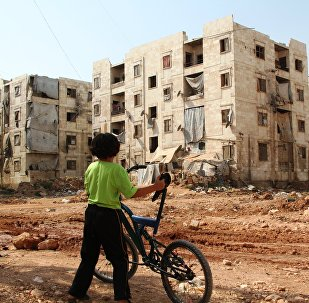 Children from refugee families near the area of hostilities in Aleppo. File photo