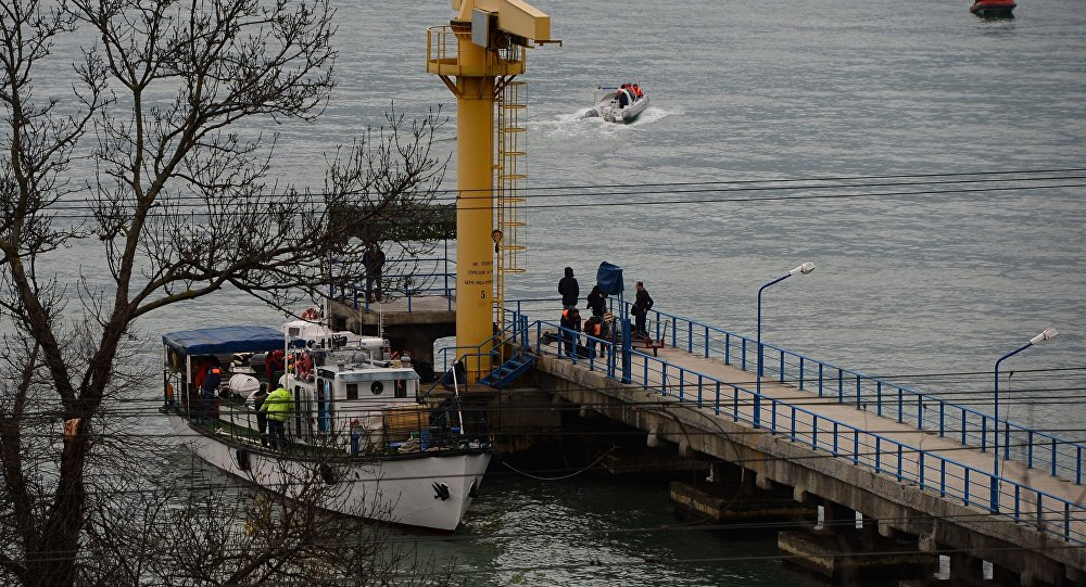 Russian Defense Ministry's TU-154 aircraft crash site in Sochi