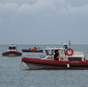 A search operation near the Black Sea coast where a Tu-154 plane of the Russian Ministry of Defense crashed near Sochi