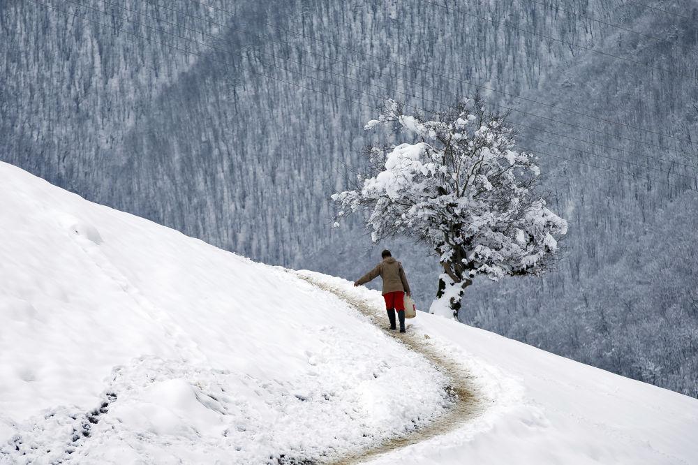 Snowbound Villages in Iranian Talysh Mountains