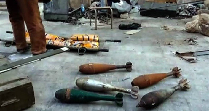 Syrian Army Finds Stockpile of Weapons in Aleppo