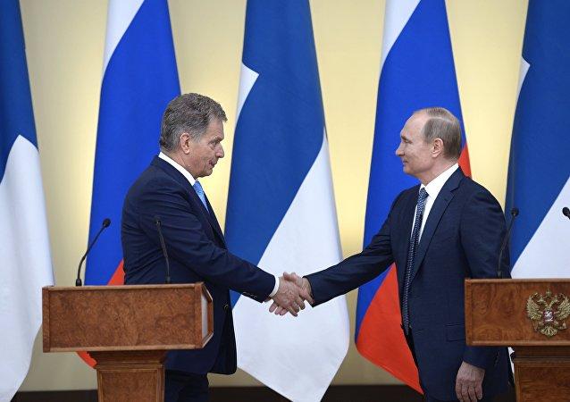 President Vladimir Putin meets with President of Finland Sauli Niinisto