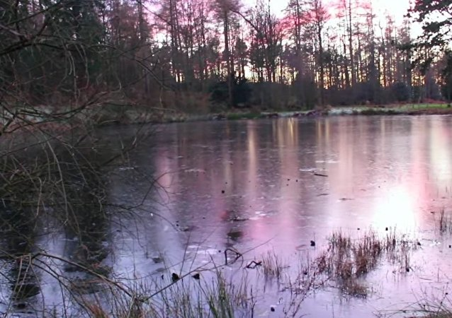 Ice Lake Stone-Skipping at Gibside