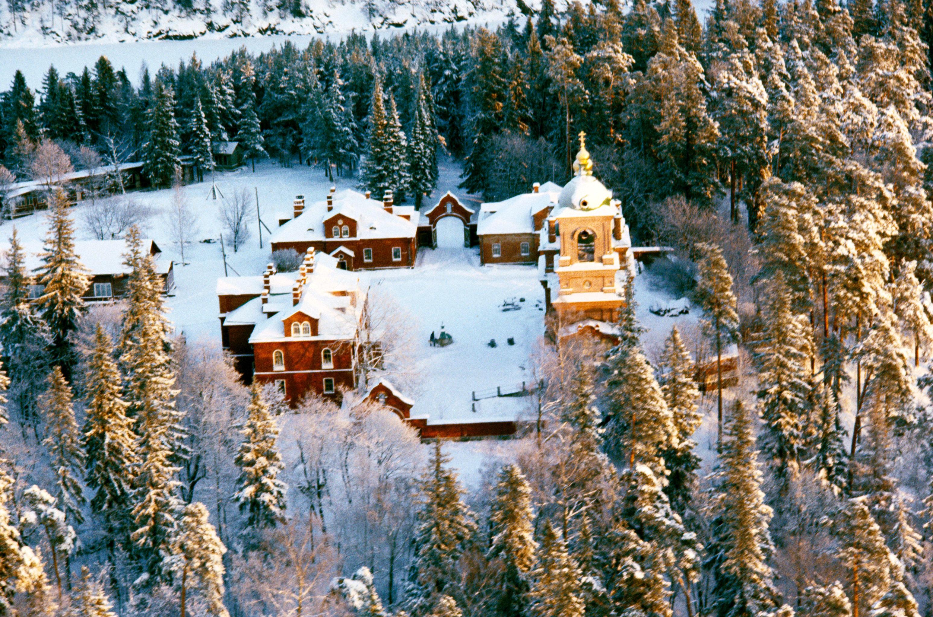 View of Resurrection Monastery, Valaam Island. (File)