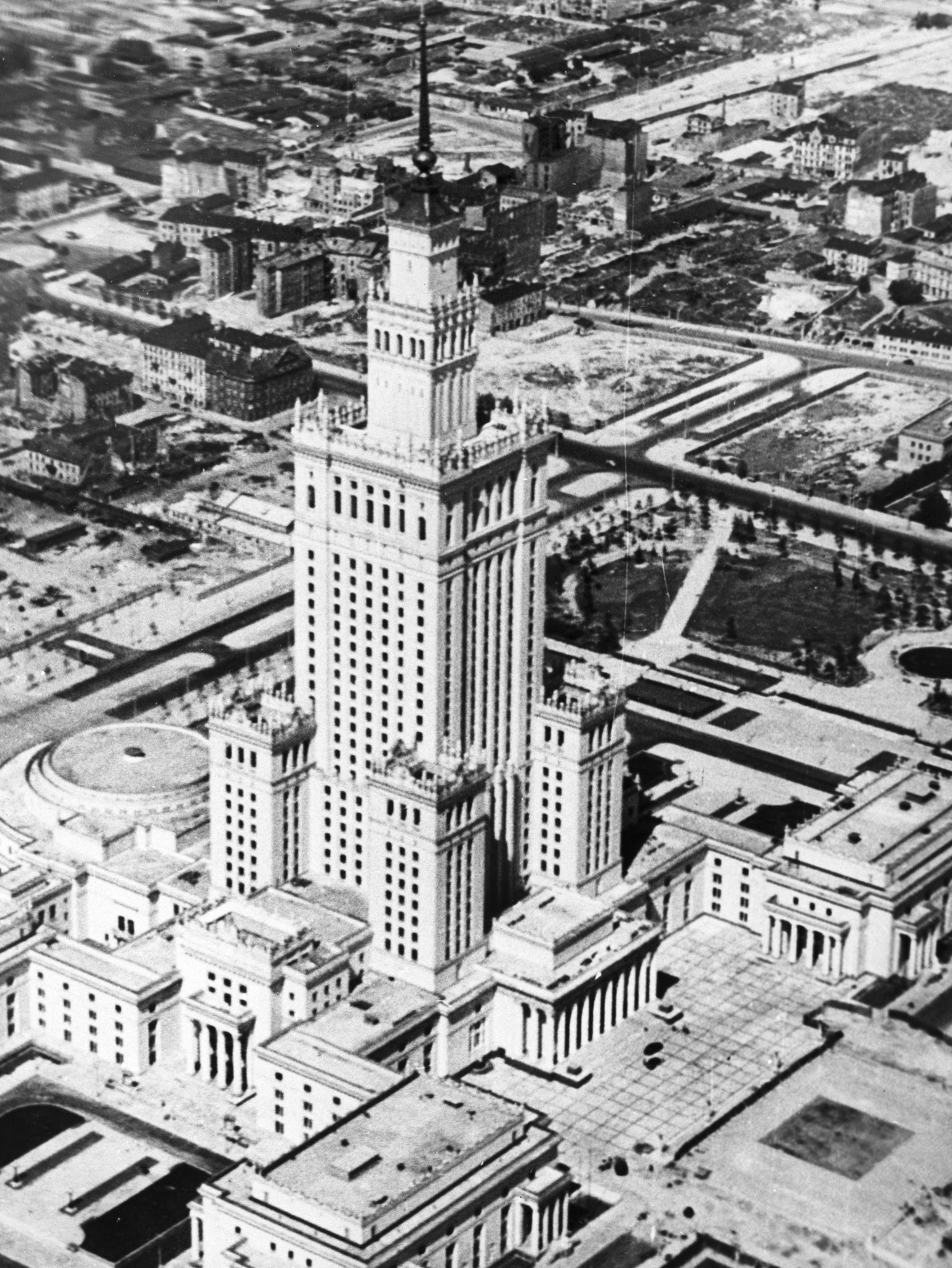 The Palace of Culture and Science in 1955.