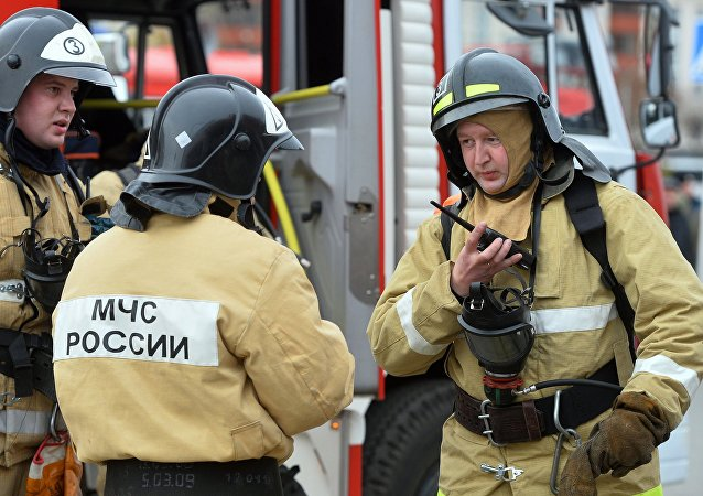 Firefighting exercise in Kazan