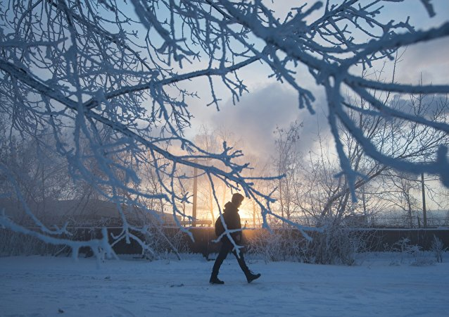 Abnormally cold weather in Moscow