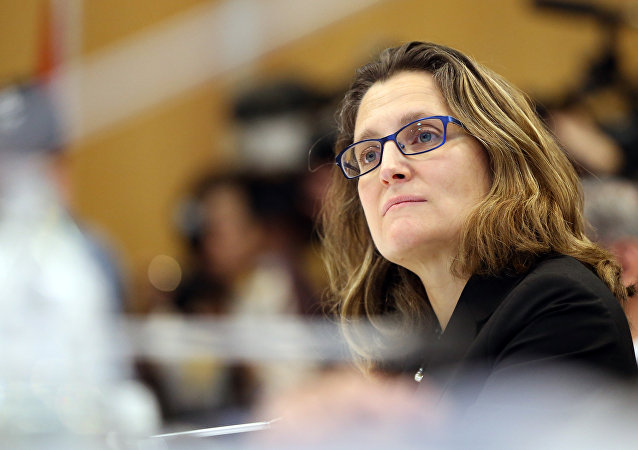 Chrystia Freeland the Minsiter of International Trade from Canada (File)
