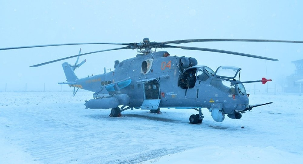 Kazakh MI-35M helicopter