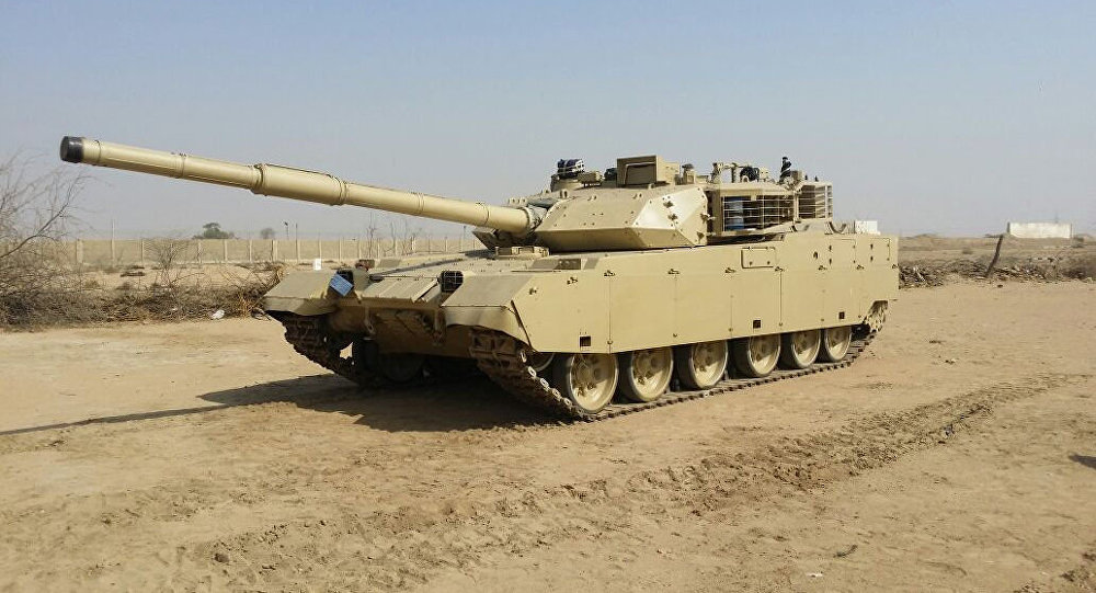 A Chinese VT-4 MBT in desert camo.