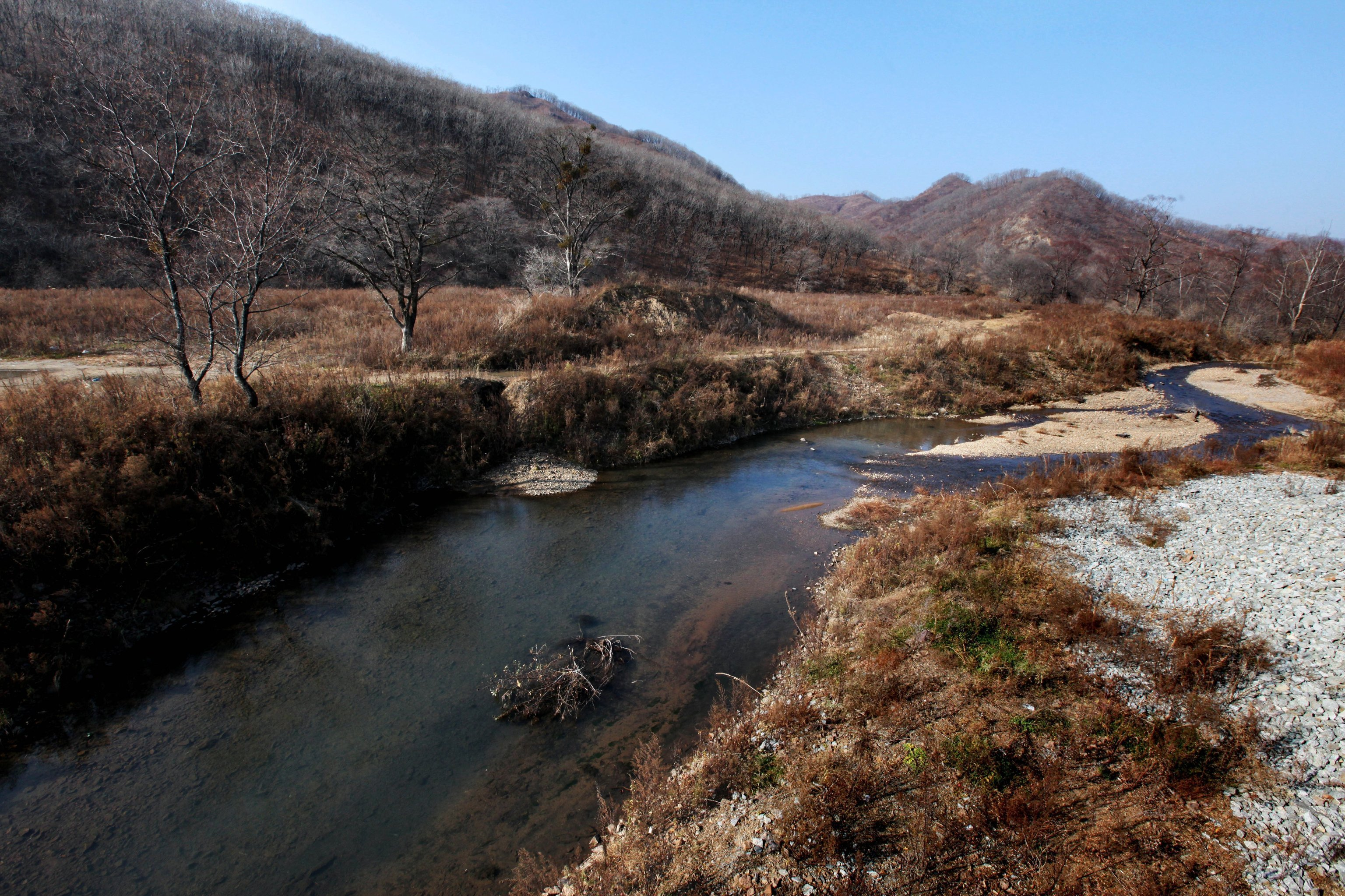 Barabash village in the Land of the Leopard National Park in the Khasan district of Primorye