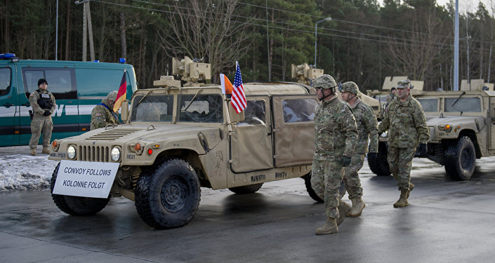 US Colonel Christopher Norrie is pictured during a welcome ceremony at the Polish-German border in Olszyna, Poland on January 12, 2017