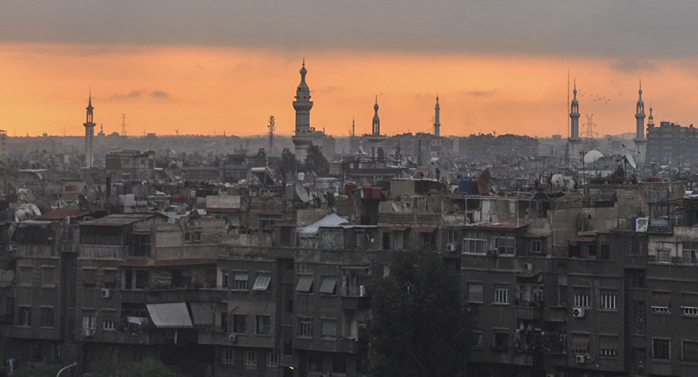 Sunrise on Damascus Siria