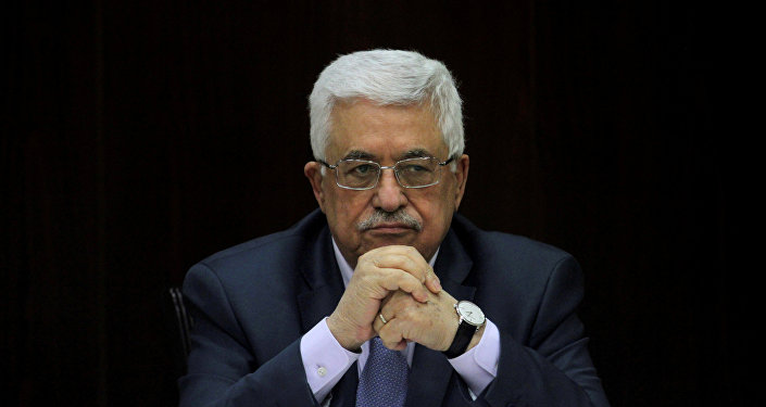 Palestinian President Mahmoud Abbas heads a Palestinian cabinet meeting in the West Bank city of Ramallah July 28, 2013