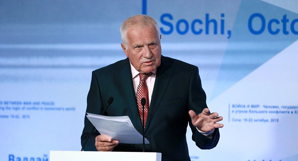 Former President of the Czech Republic Vaclav Klaus speaks at the 12th annual meeting of the Valdai International Discussion Club, Sochi. File photo
