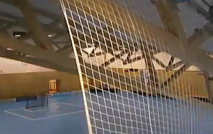 Roof falling During floorball game // Fall roof during a floorball game // January 14, 2017