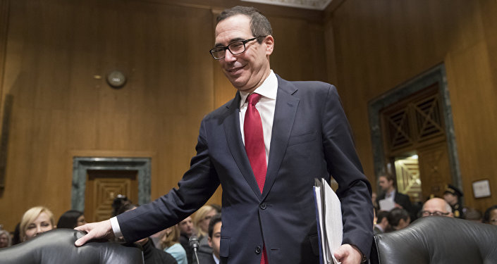 Treasury Secretary-designate Steven Mnuchin arrives on Capitol Hill in Washington, Thursday, Jan. 19, 2017, to testify at his confirmation hearing before the Senate Finance Committee