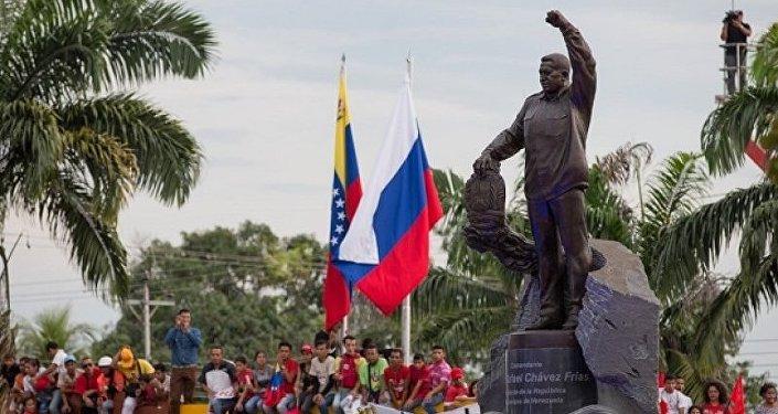 Hugo Chavez statue in Sabaneta