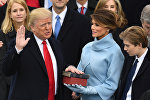 US President-elect Donald Trump is sworn in as President on January 20, 2017 at the US Capitol in Washington, DC.