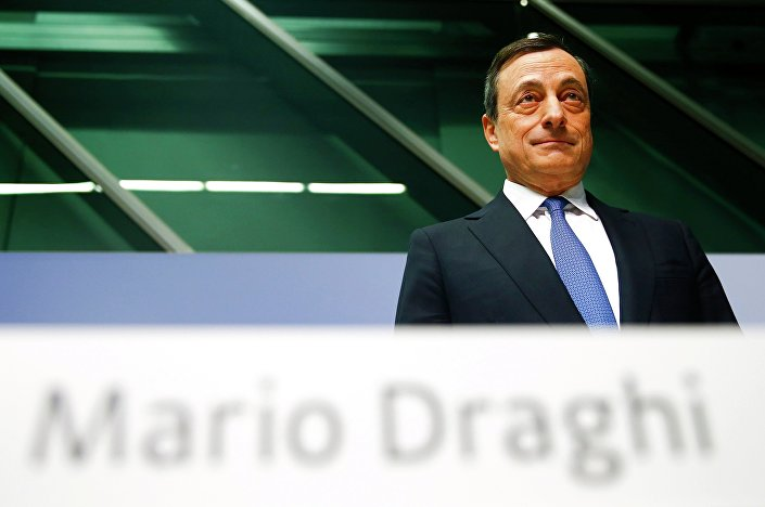 European Central Bank (ECB) President Mario Draghi arrives for an ECB news conference in Frankfurt January 22, 2015
