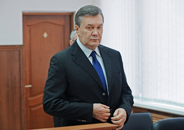 Viktor Yanukovych testifies via video link during trial into February 2014 unrest in Kiev