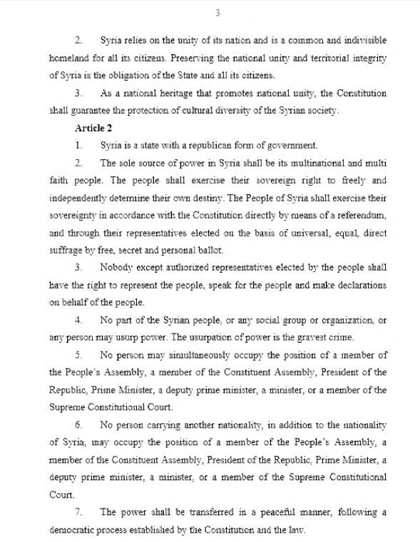 Syrian Constitution, Page 3