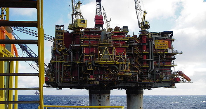 Norwegian oil rig Statfjord A