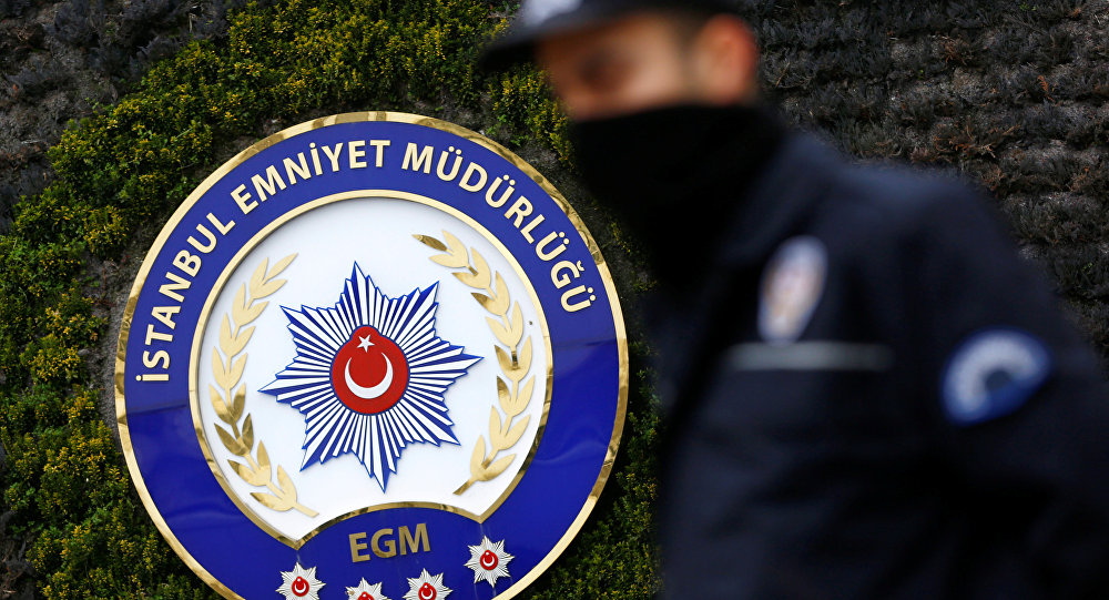 A Turkish riot police stands guard at the police headquarters in Istanbul, Turkey, January 17, 2017