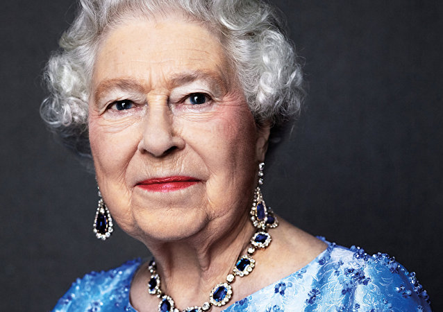 Queen Elizabeth II is seen in this handout photo taken by David Bailey in 2014, and reissued by Buckingham Palace to mark the Sapphire Jubilee of her 65th anniversary of her accession to the throne
