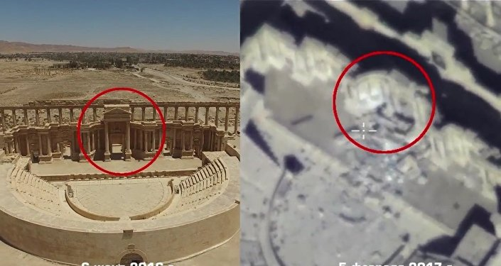Russia's Defense Ministry published a video evidence of Syria's ancient Palmyra city relics devastation by Daesh.