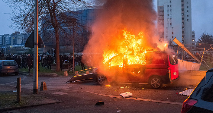 Protests against police brutality in the French town of Bobigny. file photo