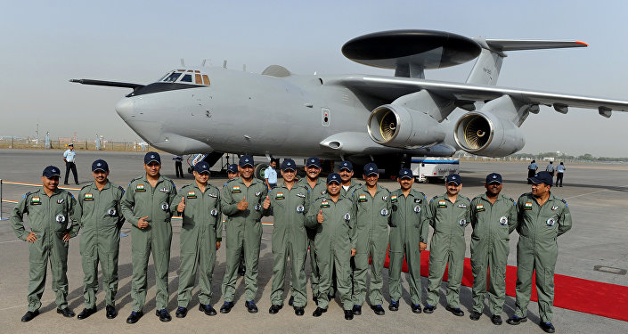 Indian Air Force (IAF) officers.
