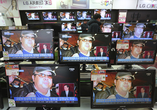 TV screens show pictures of Kim Jong-nam, the half-brother of North Korean leader Kim Jong Un, at the Yongsan Electronic store in Seoul, South Korea, Wednesday, Feb. 15, 2017.
