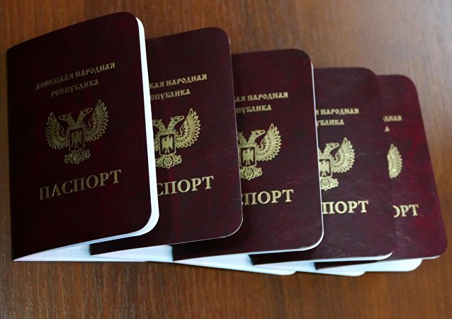 Passports of the Donetsk People's Republic are issued to the republic's nationals in Donetsk. (File)