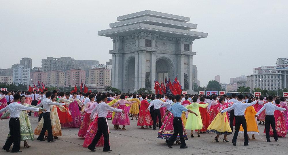 Image result for north koreans dancing