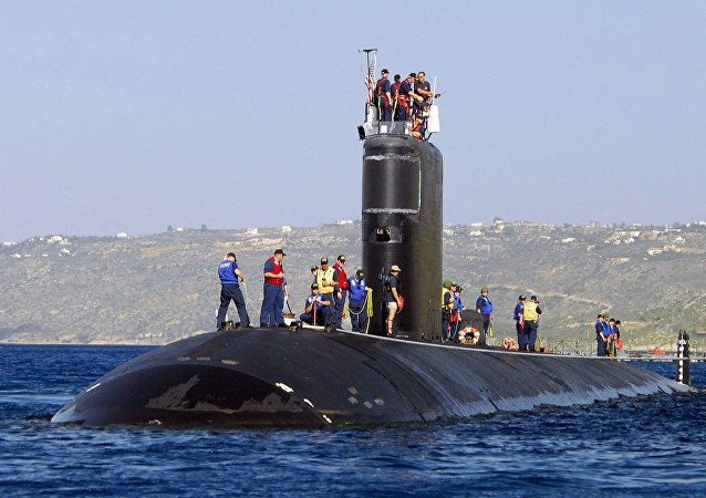Los Angeles-class attack submarine USS Alexandria