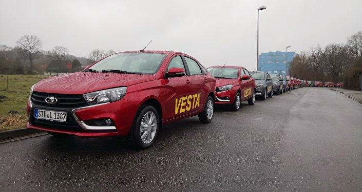 Lada Vesta sedans arrive in Germany. Sales started this week.